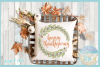 Happy Thanksgiving with Wreath SVG example image 2