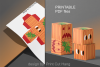 Pumpkins Treat Boxes Templates PDF files - 2 size - 2 style example image 10