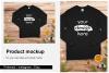 Christmas Long Sleeve Tee Mockup / Gildan 2400 / Black example image 1