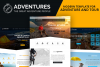Adventures and Tour PSD Template example image 1