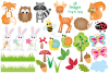 Woodland clipart, Woodland animal graphics & Illustrations example image 2