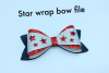 Hair bow svg file - Star hair bow - Christmas - 4th of july example image 2