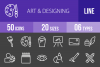 50 Art & Designing Line Inverted Icons example image 1