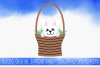 Easter Bunny Rabbit In a Basket SVG example image 1