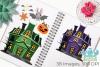Haunted Halloween House Clipart, Instant Download Vector Art example image 3