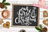 Our First Christmas SVG DXF PNG EPS Family Christmas Quote example image 2