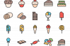 120 Sweets & Bakery Filled Line Icons example image 2