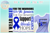 I WEAR BLUE Colon Cancer Awareness SVG DXF EPS PNG PDF file example image 1