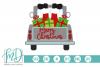 Santa - Merry Christmas - Christmas Vintage Truck Back SVG example image 2