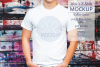 Mens tShirt Mockup Color Splat 3.2 Aspect Ratio example image 1