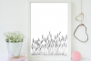 Lavender Flowers Illustration, A1, SVG example image 3