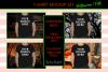 Halloween and Fall Boys t-shirt Mockup Bundle, Black tShirt example image 1