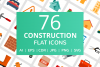 76 Construction Flat Icons example image 1
