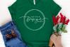 Mockup Bella Canvas 3001, Evergreen Shirt Mockup, green Xmas example image 2