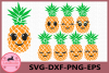 Pineapple face Svg, Pineapples SVG, Eyelashes SVG, Girl Svg example image 1
