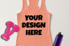 Ladies Tank Top Mockups - 20|Front/Back|PNG example image 9
