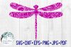 Dragonfly Zentangle Animal SVG Cut File example image 2