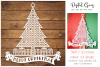 Merry Christmas paper cut design SVG / DXF / EPS / PNG files example image 1