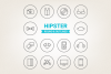 Circle Hipster Icons example image 1