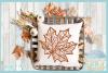 Fall Leaf Mandala Zentangle SVG example image 2