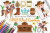 Wild West Cowboys Clipart, Instant Download Vector Art example image 1