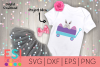 Easter SVG | Little Wagon with Bunny and Eggs| SVG DXF EPs example image 1