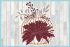 Pumpkin with Leaves Berries Mum SVG example image 3