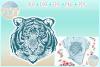 Tiger Mandala Zentangle SVG Dxf Eps Png PDF files for Cricut example image 1