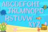 Mermaid Alphabet and Split Letters SVG Cut Files Pack example image 4