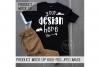 Kids Black Shirt Mock up Product Mock up example image 1