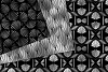 Black and Silver Art Deco Digital Paper example image 2