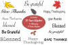 Thanksgiving Fall ClipArt Words Bundle Sublimation Transfer example image 2
