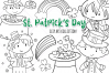 Cute St Patrick's Day Digital Stamps example image 1