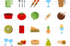 50 Food Flat Multicolor Icons example image 2