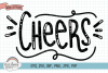 Cheers Hand Letter SVG Congratulations Cut File example image 1
