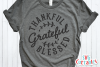 Thankful Grateful Blessed | Autumn | Fall cut file example image 1