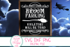 Broom Parking SVG, Funny Halloween SVG, Witch, Broom, Sign example image 1