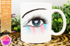 Transgender Pride Heart Flag Eye Printable Design example image 1