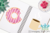 Yummy Donuts Clipart, Instant Download Vector Art example image 3
