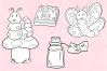 Wonderland Story Book Digital Stamps example image 4