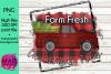 Farm Fresh Christmas Trees - Retro Red Pickup Truck example image 1