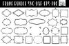 50 Hand Drawn Doodle Frames Bundle example image 2