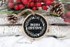 Merry Christmas, wreath monogram frame example image 3