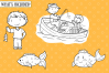Kids Fishing Digital Stamps example image 2