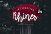 Rhiner || Latin & Cyrillic Handwritten Script Font example image 1