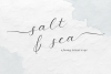 Salt and Sea Calligraphy Font example image 1