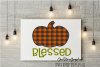 Plaid blessed pumpkin example image 1