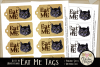 Alice in Wonderland Cheshire Cat Eat Me Printable Tags example image 3