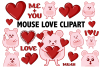Mouse Love Clipart example image 1