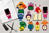 Back to school monsters clip art graphics bundle example image 3